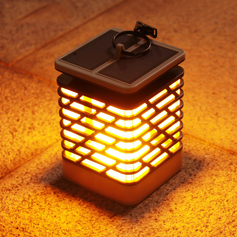 Solar led flame light