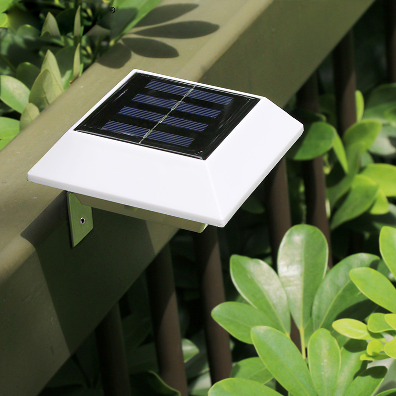 Solar led courtyard wall light